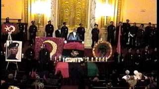 Repeat youtube video Hon. Silis  Muhammad speaks  during Ascension of Khalid Muhammad, the Black Power General