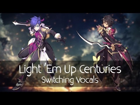 Nightcore - Light Em Up Centuries Mashup Switching Vocals