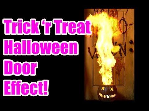 Amazing Halloween Door Illusion - Trick 'r Treat Test - AtmosFearFX