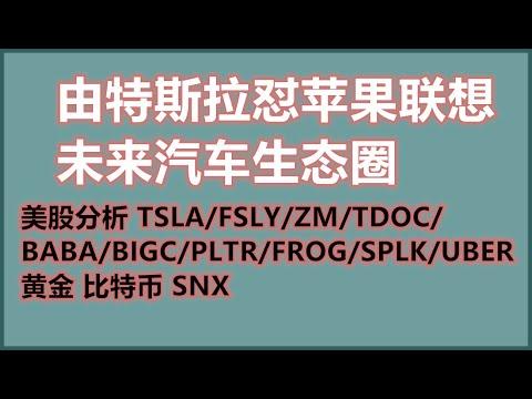 由特斯拉怼苹果联想未来汽车生态圈,美股分析tsla/zm/fsly/baba/tdoc/bigc/pltr/frog/splk/uber-黄金-比特币-加密货币-bitcoin-crypto-snx