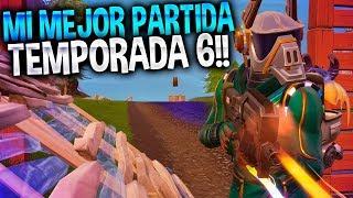 MI MEJOR PARTIDA de la TEMPORADA 6!! | Fortnite Battle Royale | Rubinho vlc