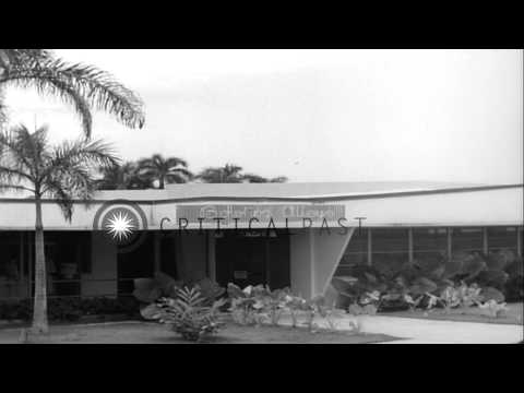 Army Commissary building at Corrozal Army Post in Panama HD Stock Footage