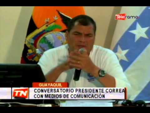 Conversatorio presidente Correa con medios de comunicación