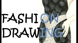 Schwarzes Kleid ZEICHNEN - Fashion Drawing