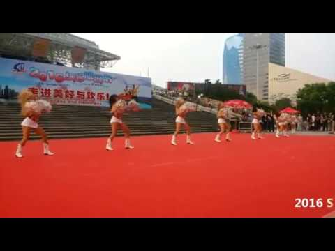 2016 Shanghai Tourism Festival public show-Texas Tech University Pom Squad, USA-2