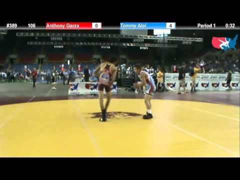 Fargo 2012 106 Round 2: Anthony Garza (Colorado) vs. Tommy Aloi (Virginia)