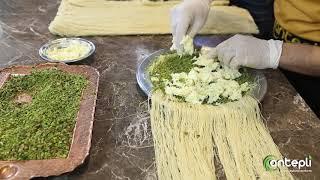Antepli'nin elinden hasır künefe yapımı