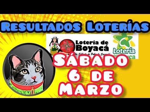 Resultados Loterias Sabádo 6 De Marzo De 2021 Loteria Boyaca Y Cauca