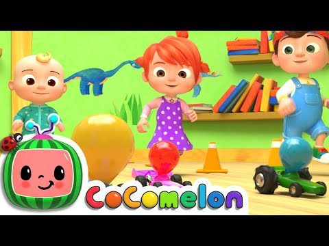 Toy Balloon Car Race | CoCoMelon Nursery Rhymes & Kids Songs