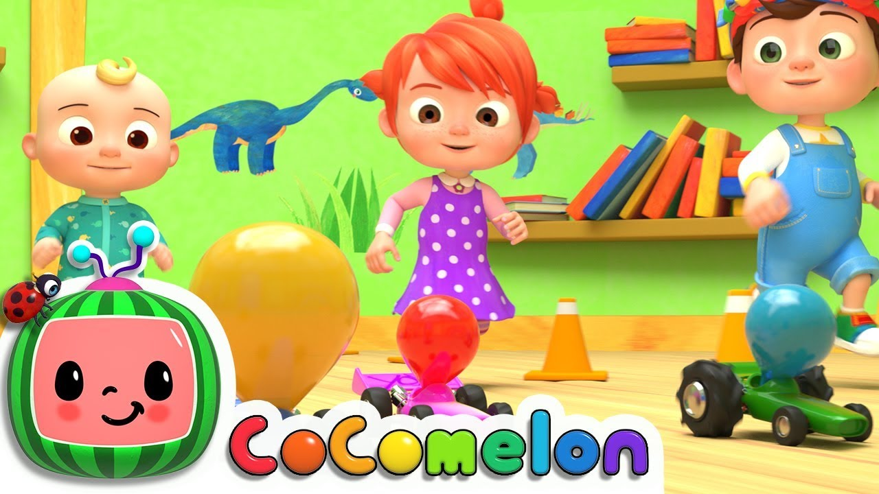 Toy Balloon Car Race | Cocomelon (ABCkidTV) Nursery Rhymes ...