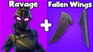 "20 BEST ""FALLEN WINGS"" SKIN + BACKBLING COMBOS in Fortnite! (you need this pack)"