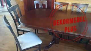 Кухонный стол и стулья-купить в Москве- темный орех-Dekormebelplus.ru