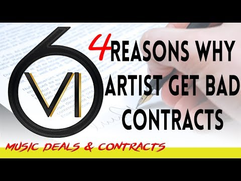 4 Reasons Why Artists Receive Horrible Contracts