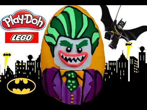 Huevo Sorpresa Gigante de Lego Guason o Joker de LEGO BATMAN de Plastilina Play Doh en ESPAÑOL