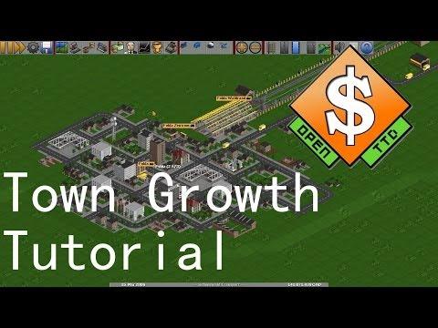 Town growth ↗ OpenTTD Tutorial [EN]