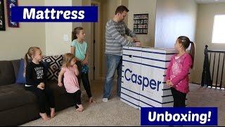 new casper mattress   bed unboxing