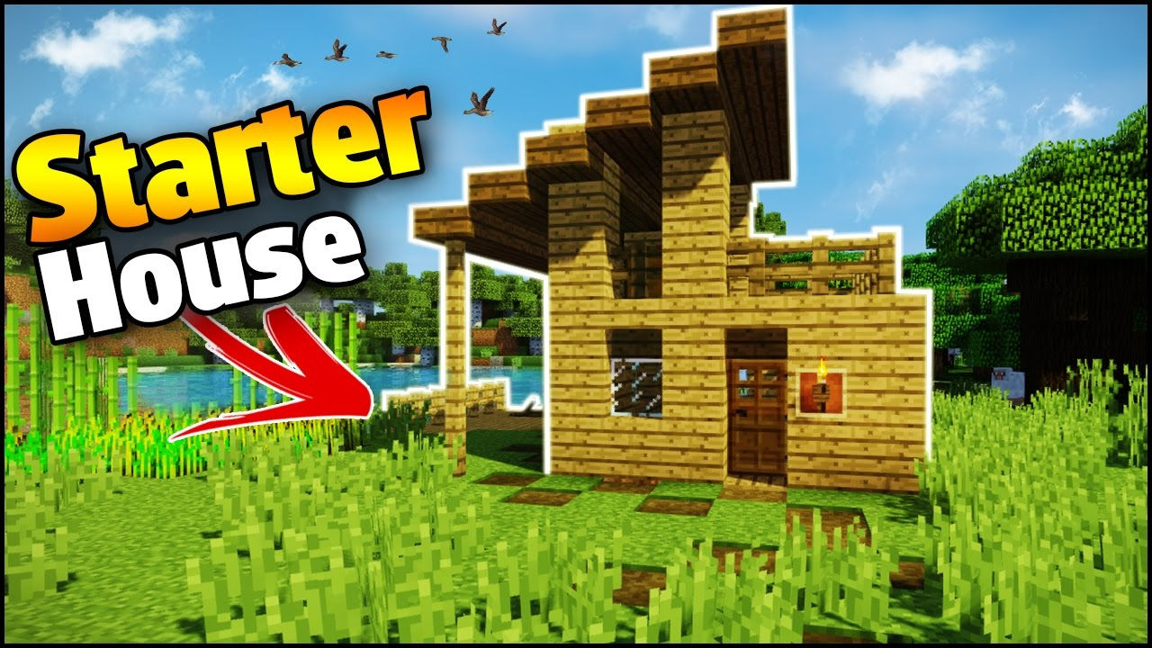 minecraft survival house tutorial how to build a easy house in