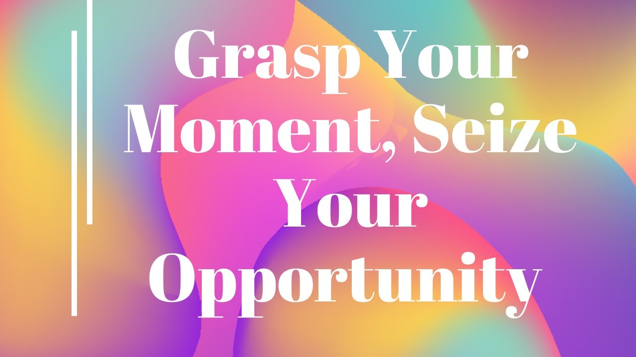 Grasp your moment, seize your opportunity | Apostle Mike Klump