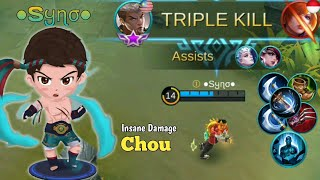 ●Sყɳσ● with critical build and assassin emblem | ●Sყɳσ● Chou Gameplay