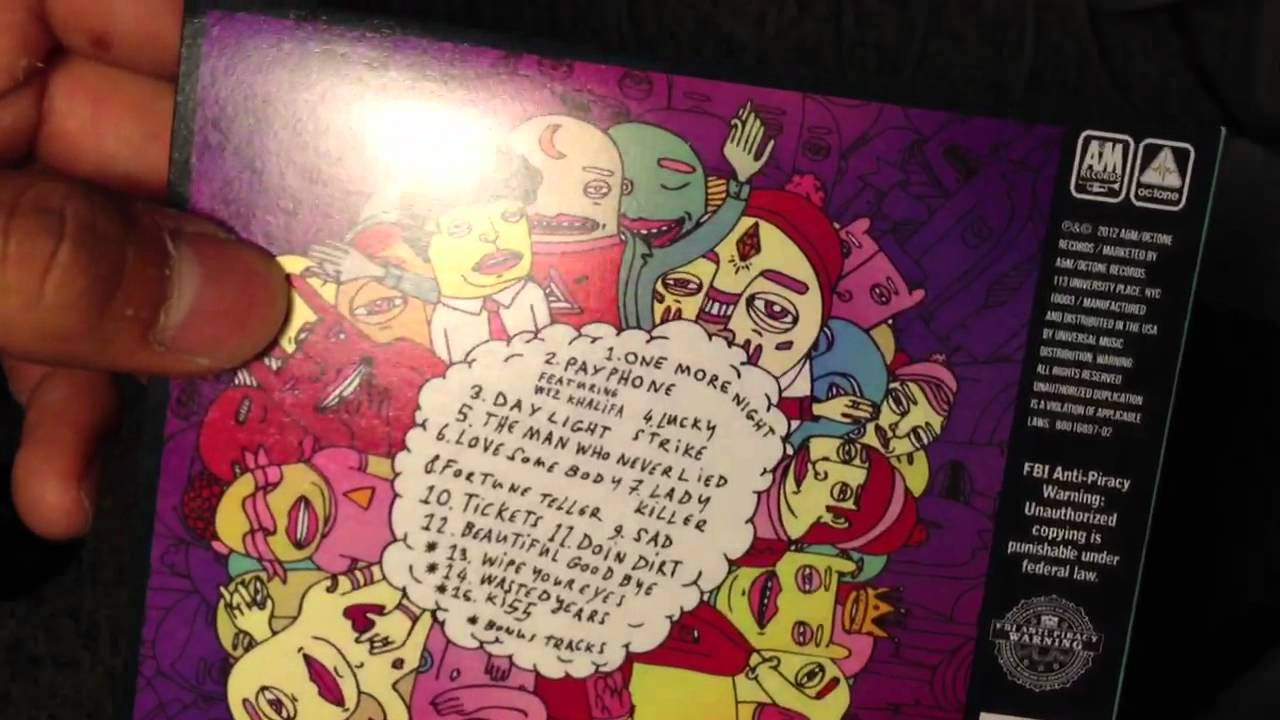 cd maroon 5 overexposed deluxe edition