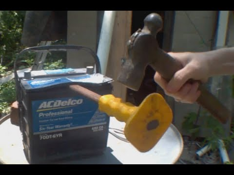 diy opening a car battery and repairing with epsom salts youtube. Black Bedroom Furniture Sets. Home Design Ideas