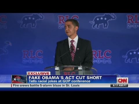 CNN: Fake Obama, Reggie Bush on why he was escorted off stage
