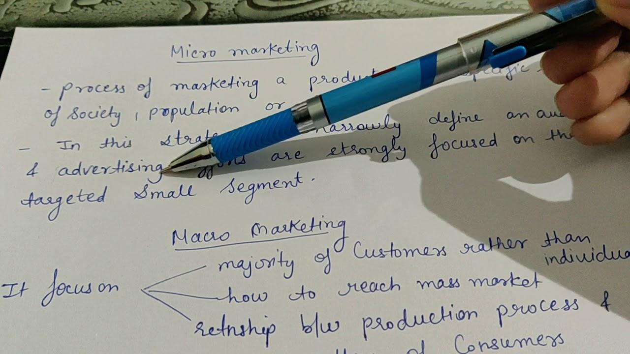 Micro & macro marketing (marketing management) - YouTube