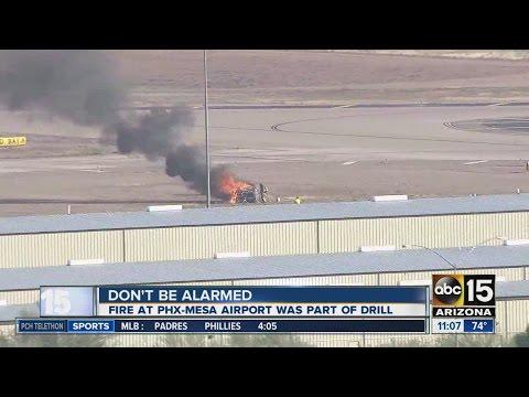 Drill at Phoenix-Mesa Gateway Airport