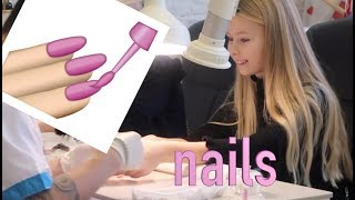 Daily vlog || Doing our nails