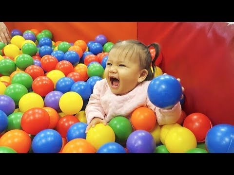 BABY'S FIRST INDOOR PLAYGROUND!!
