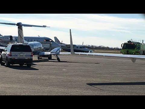 Mid-air small plane