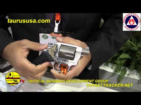 2014 Shot Show Taurus USA Revolver 85 View with Prepper and Shooter Magazine