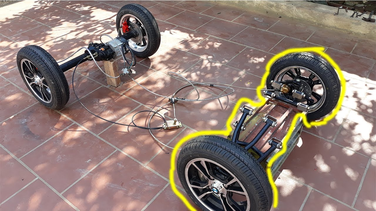 Tech Electric Car With Oil Disc Brakes Part 2 Front Axle Of Aa