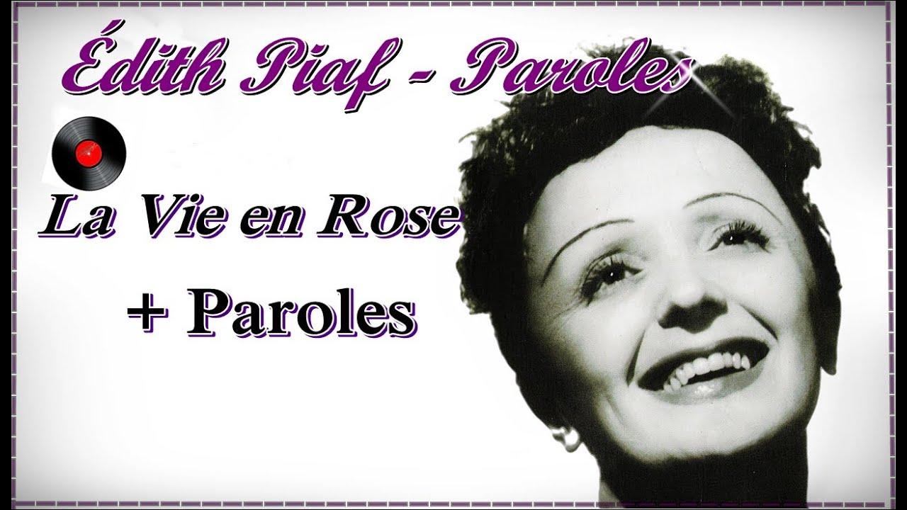 édith Piaf La Vie En Rose
