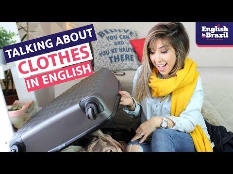 COMO FALAR SOBRE ROUPAS EM INGLÊS   Packing in English!