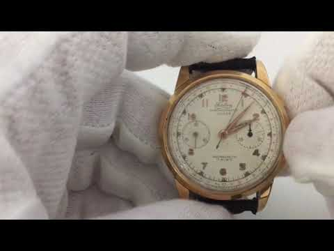 Vintage Fidelius Chronographe Suisse Men's Watch Oversized 38 mm