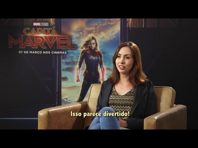 Brie Larson fala sobre seu papel como a super-heroína Capitã Marvel