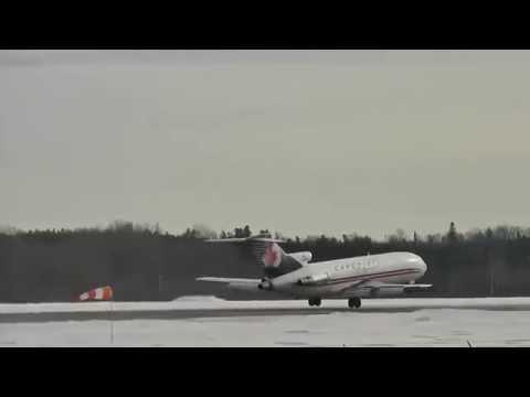 Cargojet | Boeing 727-200 landing | C-GCJZ | Val-d'Or (CYVO)