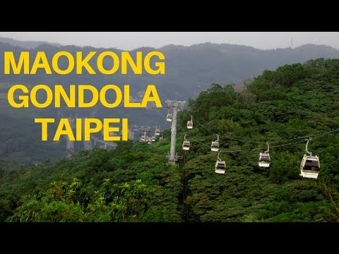 Maokong Gondola Cable Car Ride in Taipei Taiwan