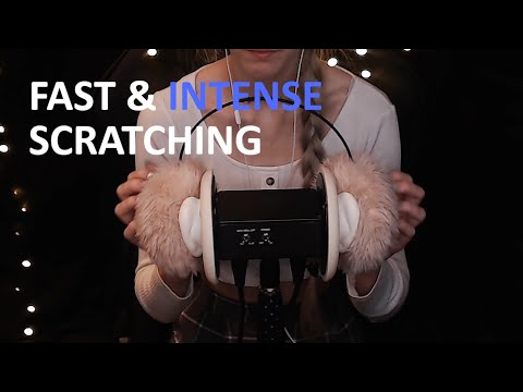 ASMR   Fast & intense earmuff scratching   Sleep, Study, Meditation, Tingles   3Dio
