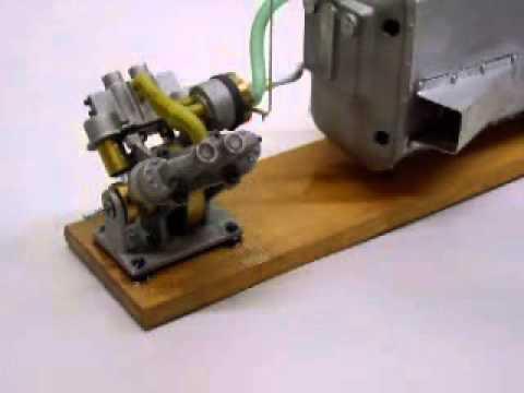 V-four multi cylinder steam engine