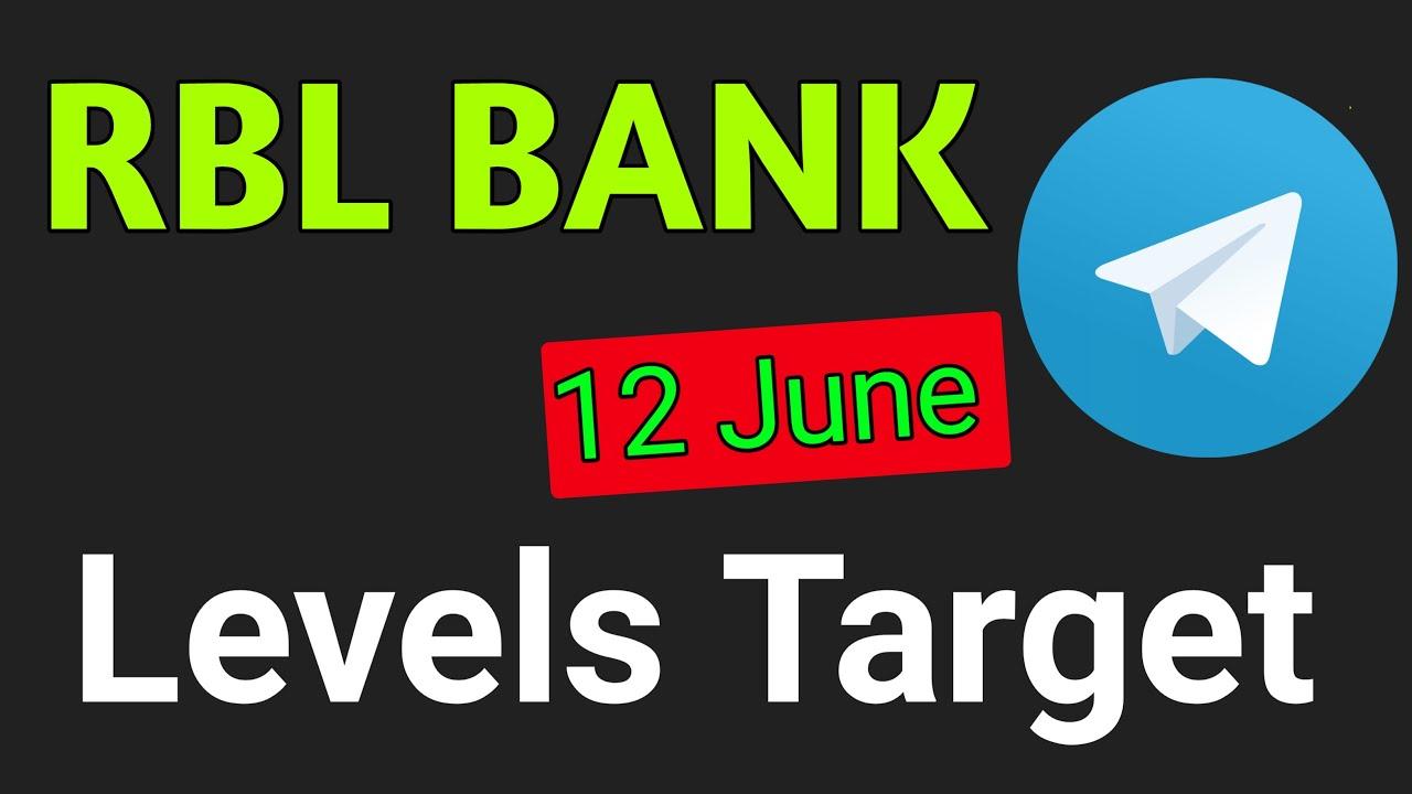 RBL bank 12 June intraday strategy । RBL bank share price। RBL bank share । RBL bank share news - YouTube