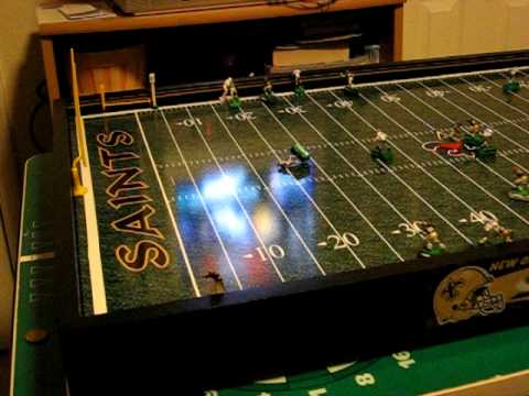 c894df49976 Electric Football Roller Board Canadian Football League size football field.  MFCA Coach Pat CFLer