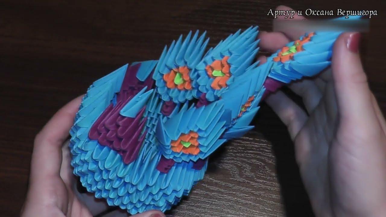 модульное оригами жар птица схема сборки