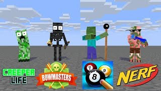 Monster School : SEASON 2 ALL EPISODES ( MINECRAFT ANIMATION )