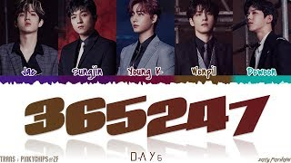 DAY6 (데이식스) - '365247' Lyrics [Color Coded_Han_Rom_Eng]