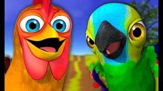Весёлый хор животных - детские песни  | Детское Королевство