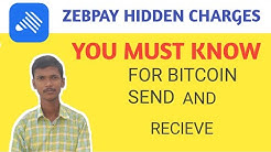 Zebpay send and receive Charges Network fees 