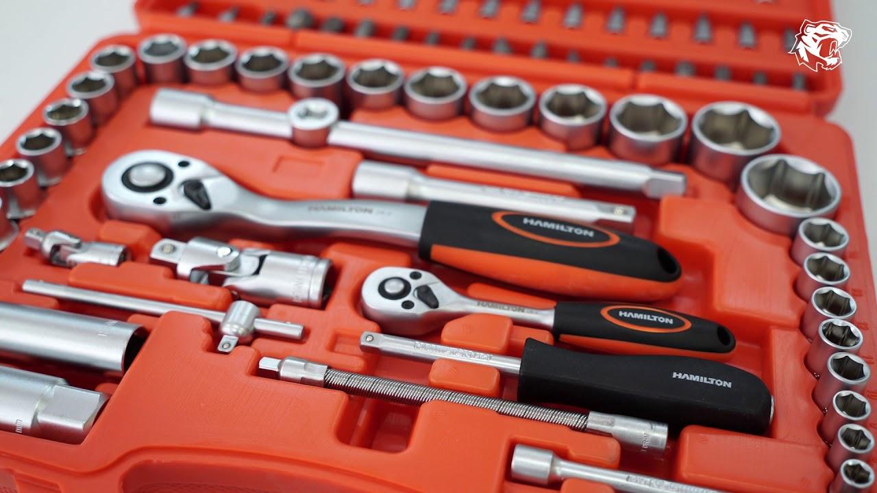 94 piezas, 1//2, 12,7 mm y 1//4, 6,35 mm Laser 3671 Juego de llaves de vaso