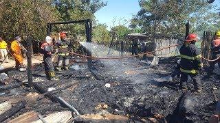 Voraz incendio consumió una vivienda en Mburucuyá